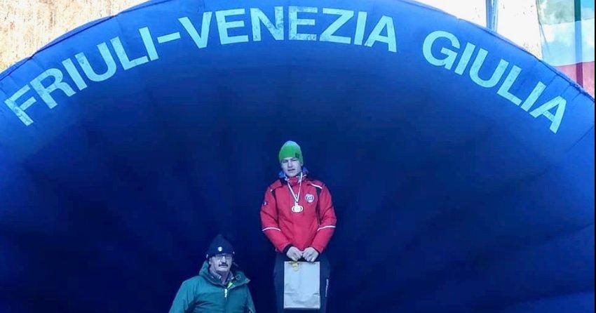Sci di fondo, l'atleta dello Sc70  Cosimo Fabris campione italiano cittadini U20