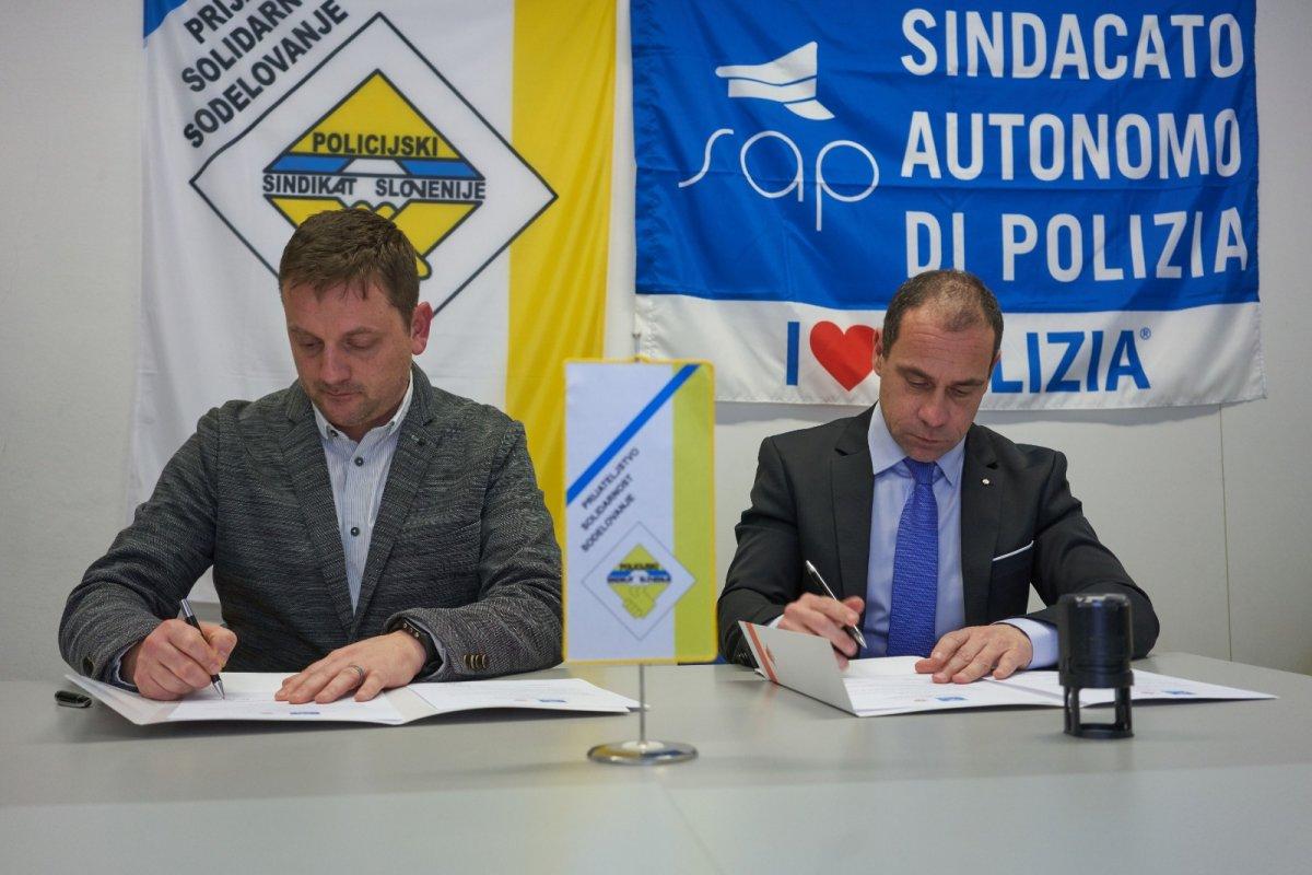 Slovenia,. incontro tra il Sap e il locale sindacato PSS, collaborazione sempre più stretta su immigrazione