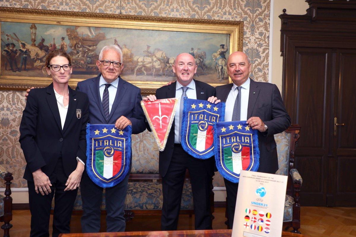 Grazie di UEFA e FIGC a Trieste, rappresentanti ricevuti dal sindaco e dall'assessore Rossi