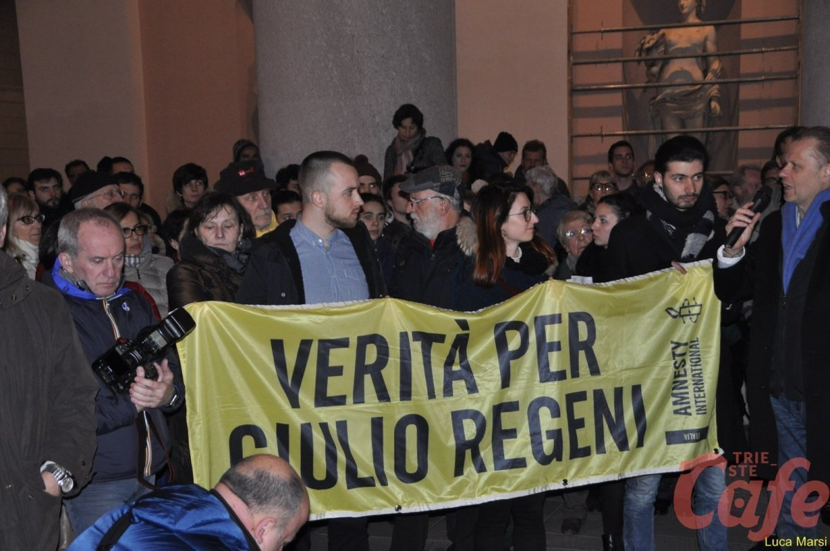 Oggi in piazza Unità Flash Mob per Giulio Regeni: «Verità e giustizia»