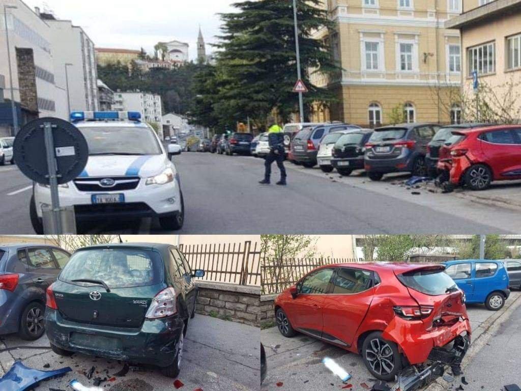 Via Svevo, provoca un incidente e scappa: rintracciato dalla Polizia Locale