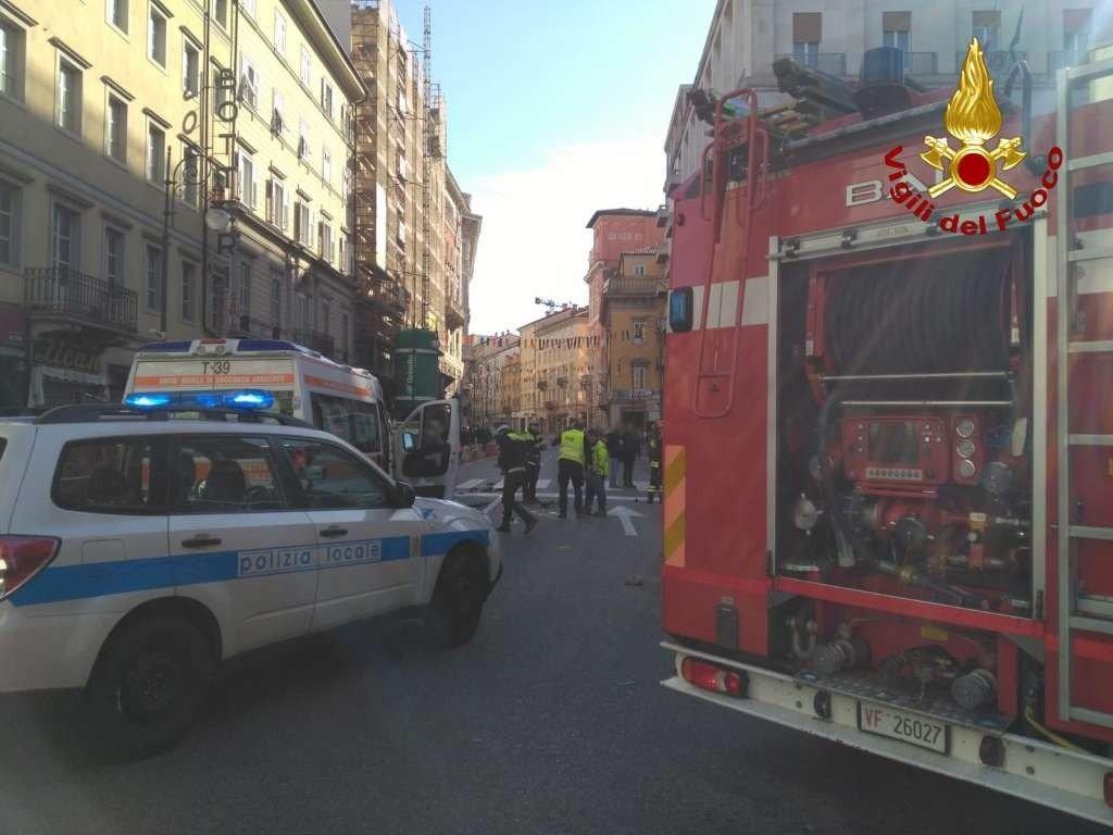Corso Italia, incidente auto - scooter