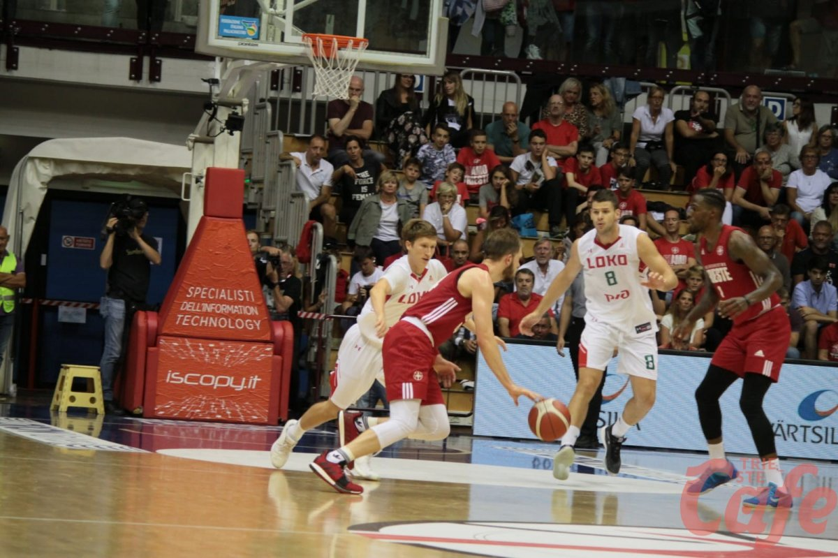 Pallacanestro Trieste, vittoria all'Allianz Dome contro Lokomotiv Kuban (FOTO)