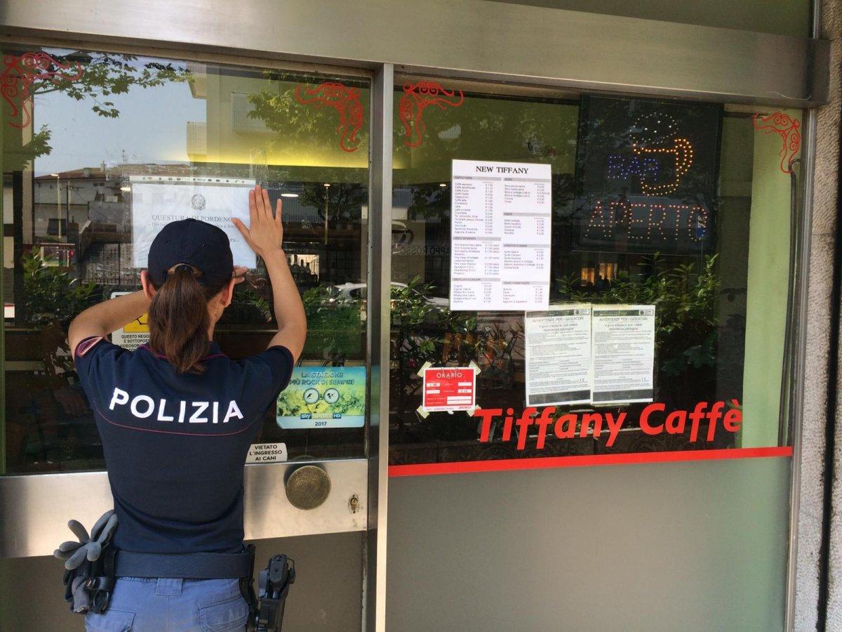 Droga al Bar Tiffany di Pordenone, sospensione della licenza per un mese