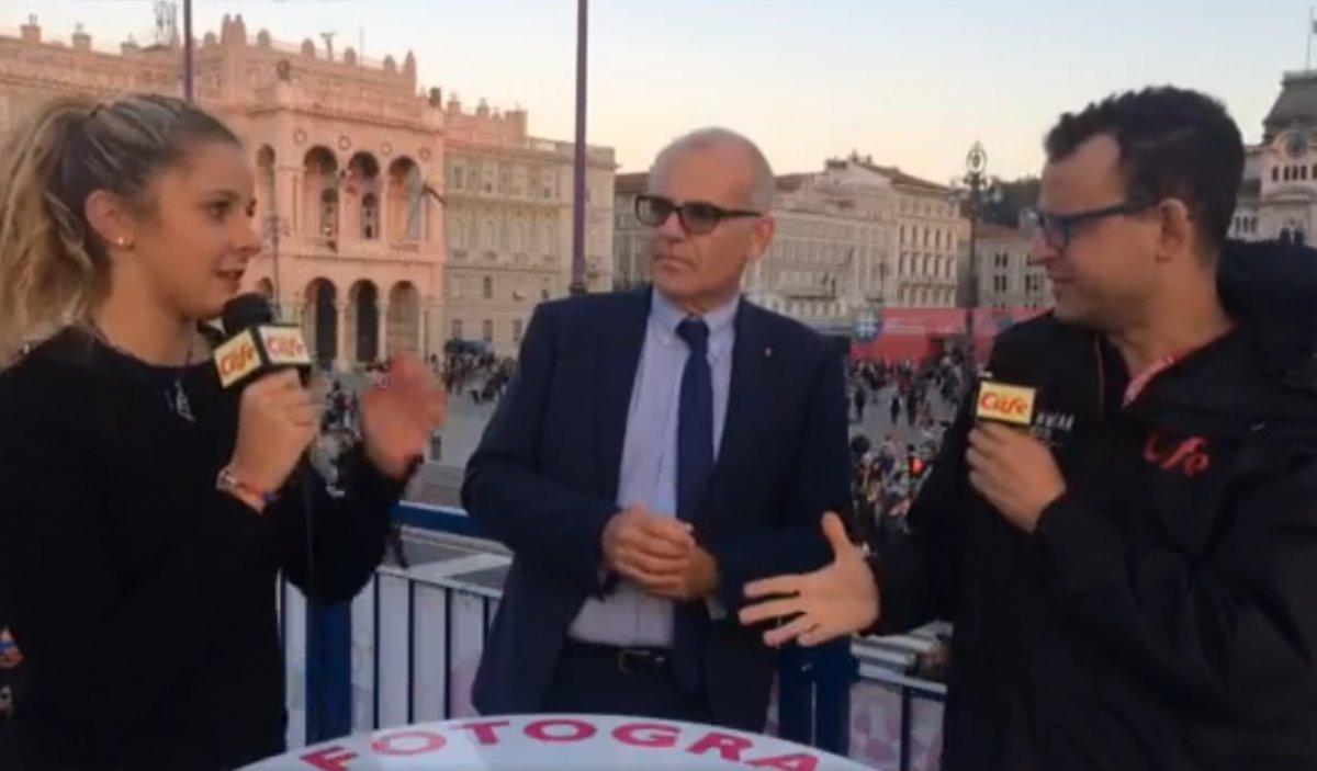 La campionessa italiana di windsurf Anna Biagiolini e l'assessore Lorenzo Giorgi (VIDEO)