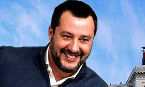 Matteo Salvini in Questura per commemorare Matteo e Pierluigi