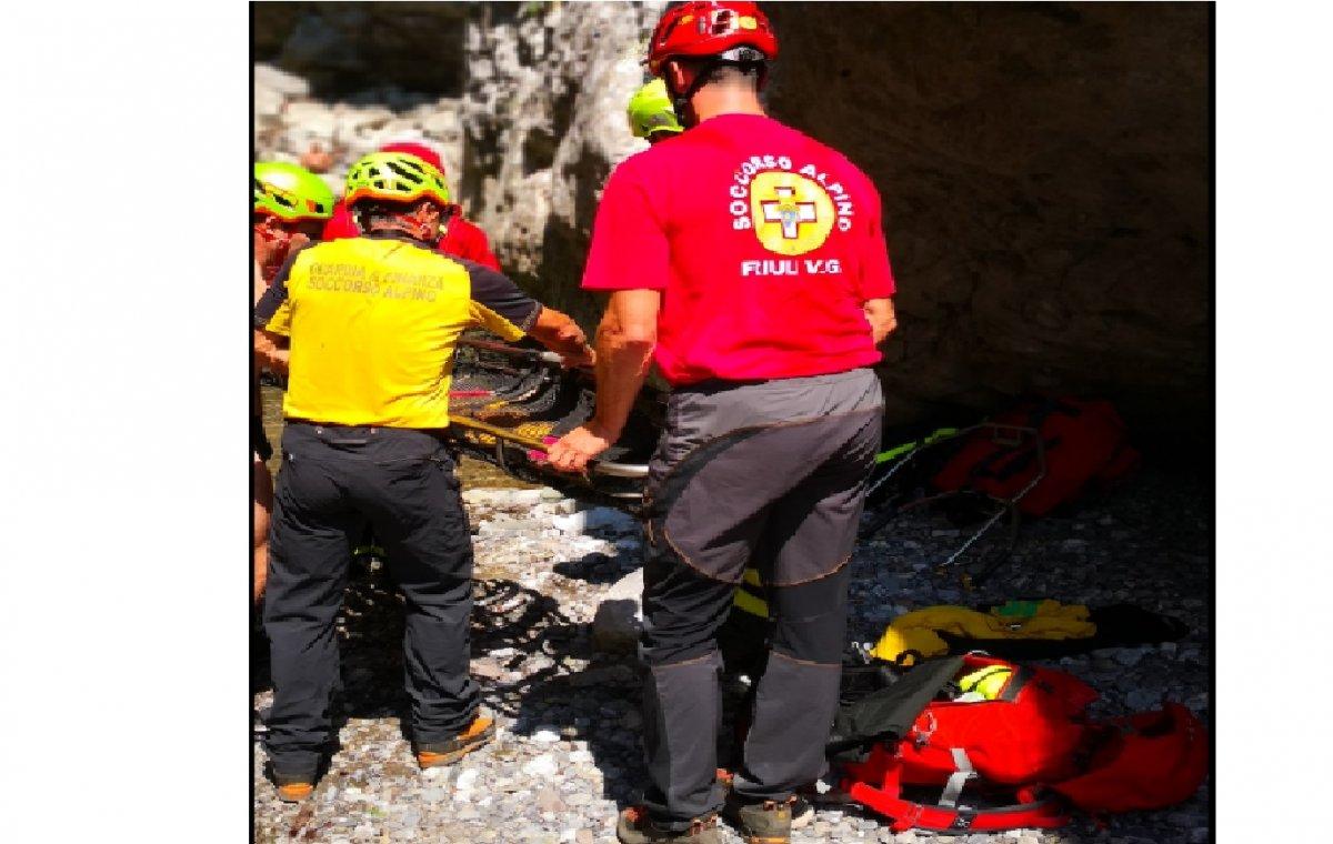 Infortunio nella forra del Rio Simon, recuperato un austriaco