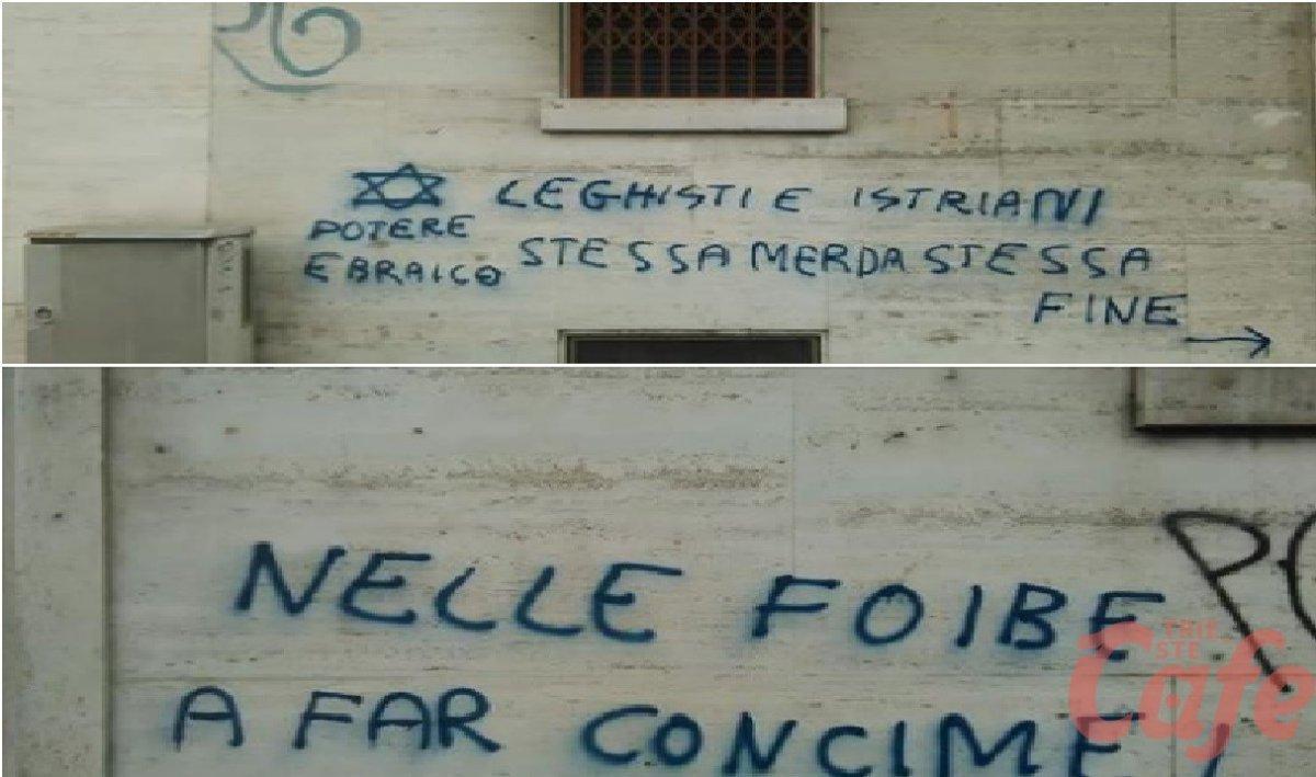 Torino, scritte shock: «Leghisti e istriani stessa me**a stessa fine»