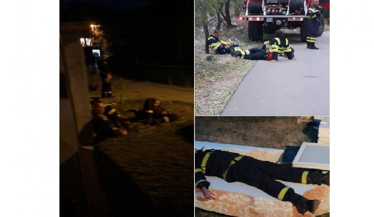 Croazia, domano vasto incendio e si addormentano a terra dalla stanchezza (FOTO - VIDEO)